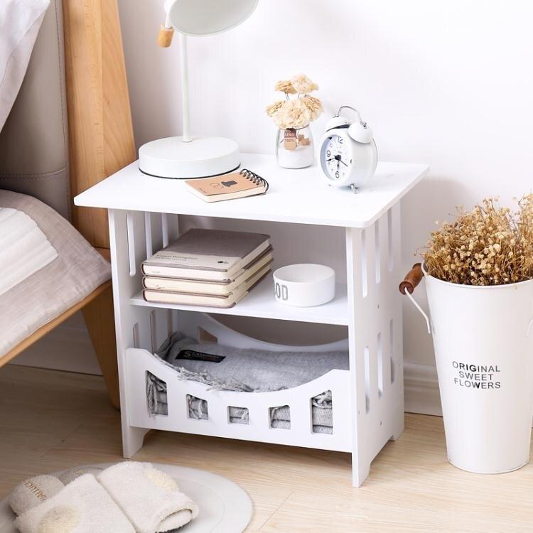 簡易小桌子沙髮邊幾迷你方桌客廳簡約茶幾床邊收納櫃臥室床頭桌
