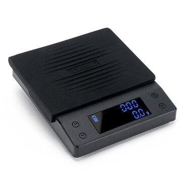 金時代書香咖啡 Tiamo CT2000 專業計時電子秤 2kg - 時尚黑  HK0537BK