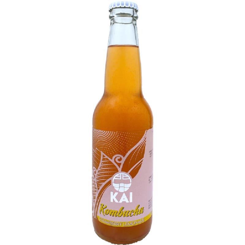 [馥聚] Kai康普茶12入組 (330ml/瓶) (全素) 草莓檸檬