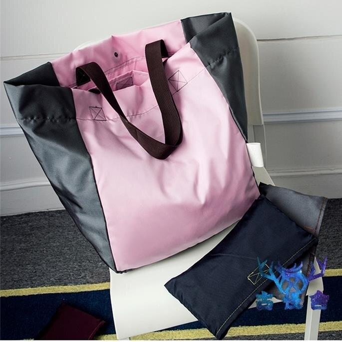 手提帆布袋大容量可折疊便攜購物袋購物包環保袋側背肩