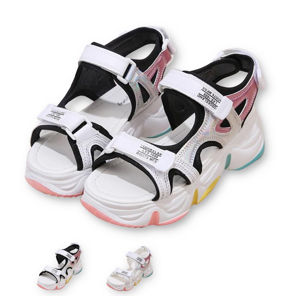 涼鞋-繽紛仲夏輕底休閒運動涼鞋