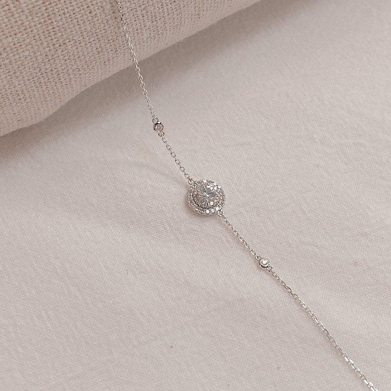 高貴階級的 Adelaide | 雙圈 | 18K金鑽石手鍊 (可客製化)