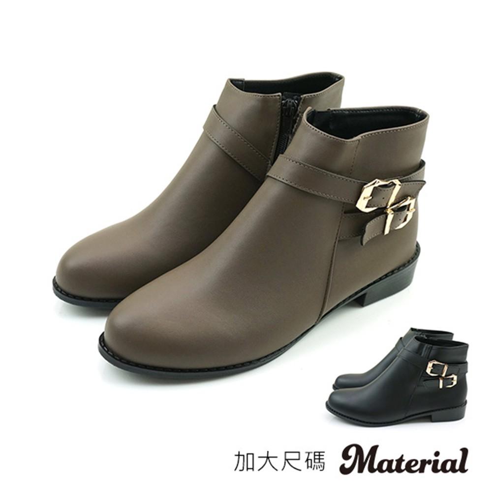 短靴 加大雙扣帶短靴 T58033