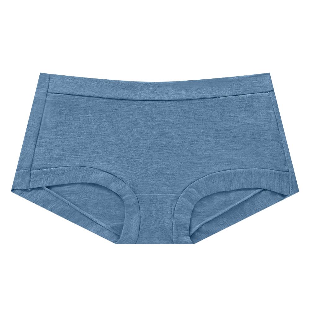 親膚舒棉中腰小褲-海軍藍