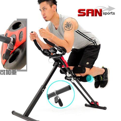 【SAN SPORTS 】5五分鐘猛一身健腹機 全方位提臀健腹器.運動健身器材.推薦哪裡買