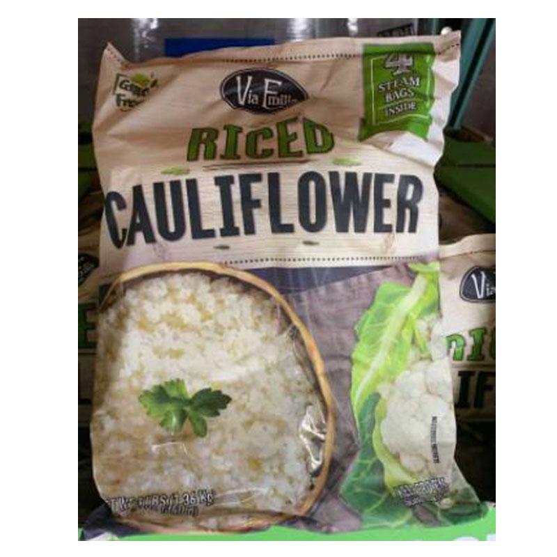 [COSCO代購 需低溫宅配] C126802 VIA EMILIA RICED CAULIFI OWER 冷凍米粒狀花椰菜1.36KG