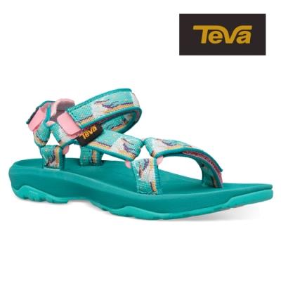 【TEVA】原廠貨 中童 Hurricane XLT2 機能運動涼鞋/雨鞋/水鞋(獨角獸水藍-TV1019390CUWTR)