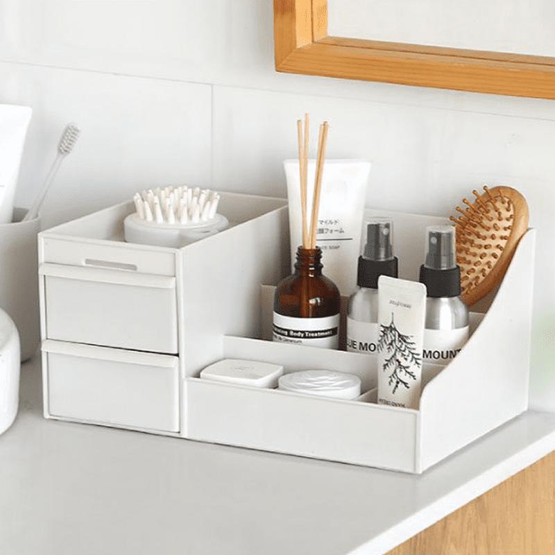 化妝品文具桌面抽屜式收納盒(三層款/簡約款)