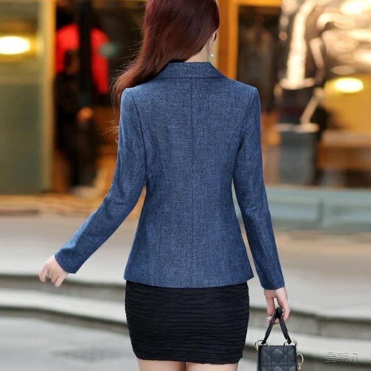 ol西裝外套 2020春裝新款修身小西服女長袖休閒韓版西裝短款外套上衣
