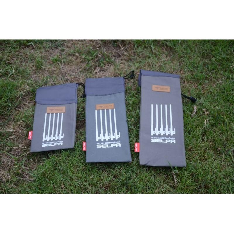 [凱溢露營用品] 20cm營釘收納袋 營釘用 牛津布 營釘袋 大黑釘袋 工具袋 營槌 工具包