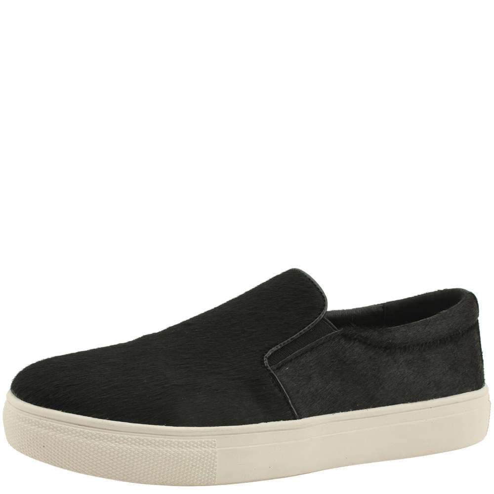 韓國空運 - Natural Songchi Cowhide Slip-on 3cm Black 球鞋/布鞋