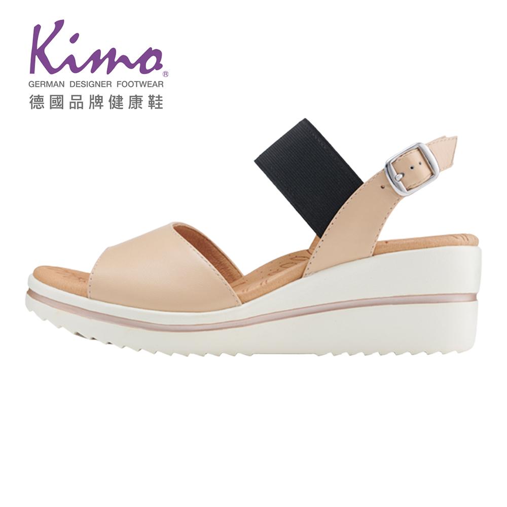Kimo彈力繫帶楔型涼鞋 女鞋(杏KBJSF167020)