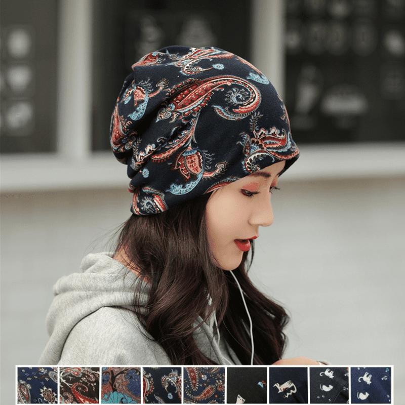 韓系保暖多戴法包頭帽