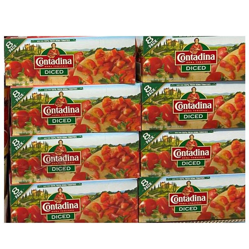 [COSCO代購] C1412015 CONTADINA DICED TOMATOES 切塊番茄 411公克X8入