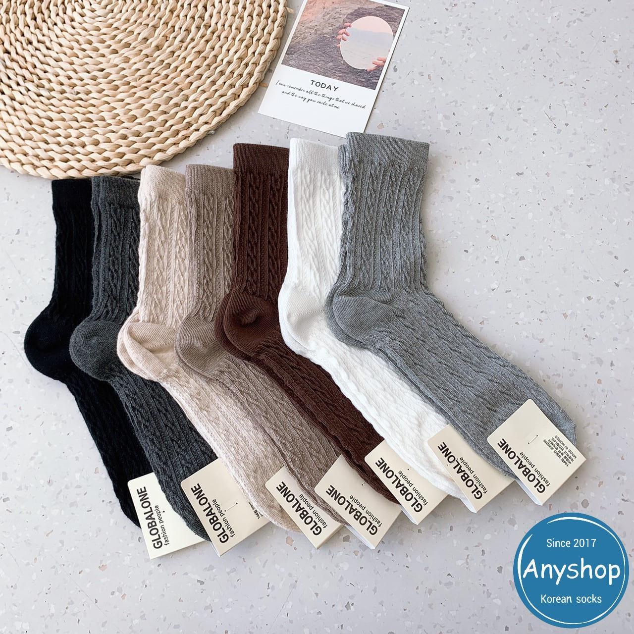 韓國襪-[Anyshop]歐膩編織紋浮雕滿版長襪