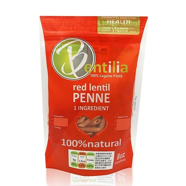 【南紡購物中心】【BENTILIA】美國原裝進口紅扁豆義大利筆管麵1包 (225公克)
