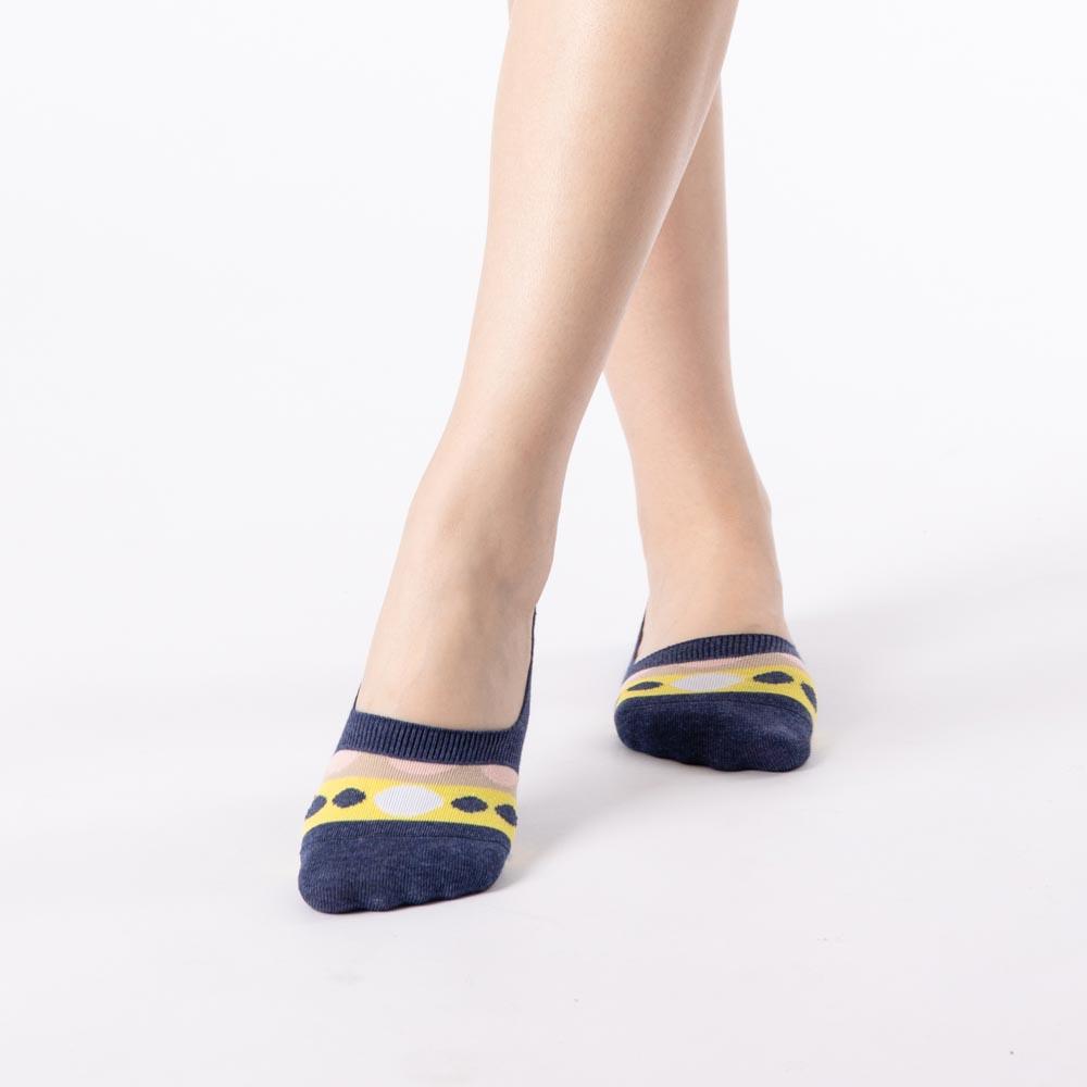 環珠亮彩腳跟防滑隱形襪-藍色 (商品編號:S0509165)