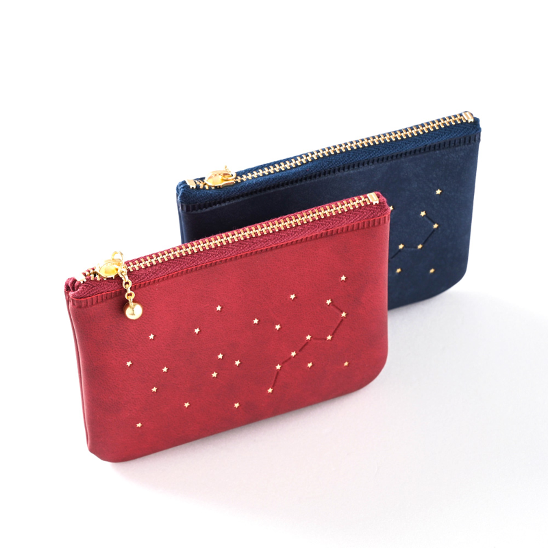 【EL COMMUN】RIGEL 閃亮恆星 卡片零錢包-紅酒紅