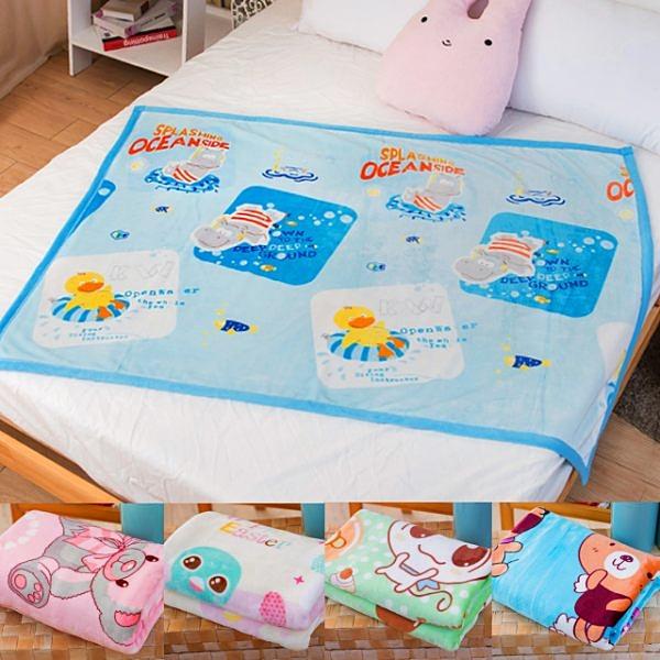柔軟雙層加厚雪貂絨童毯(100x135cm) 多款任選 (包邊)