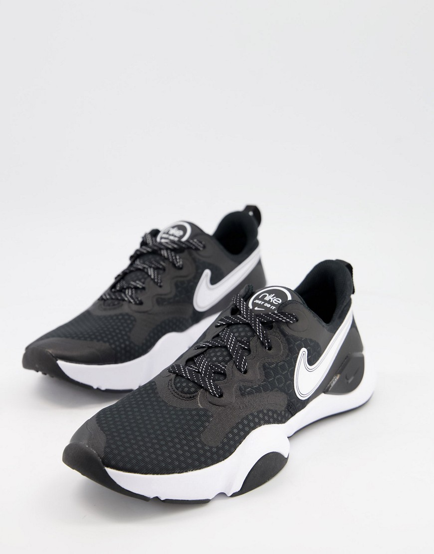 Nike Training SpeedRep trainers in black and white