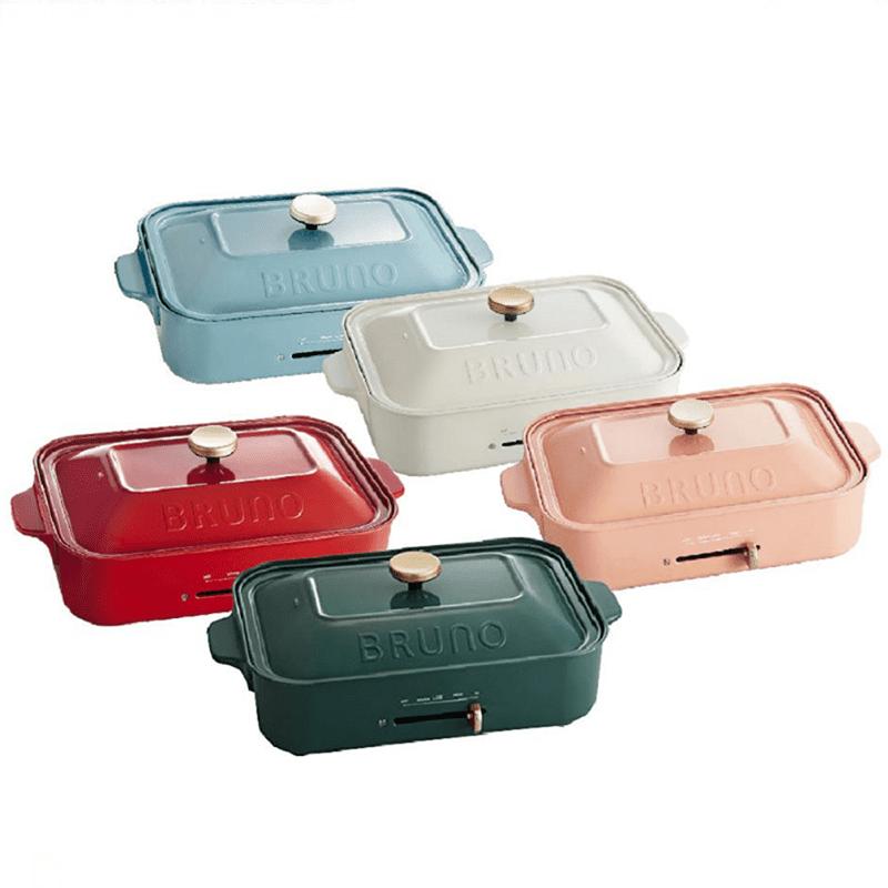 【日本BRUNO】多功能鑄鐵電烤盤(夜幕綠)新色上市 限定色 BOE021