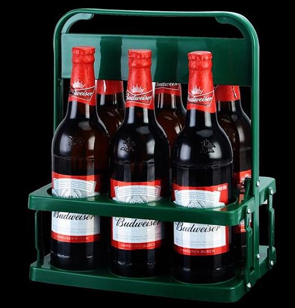 酒架 啤酒塑料提籃便攜式提藍可折疊酒架KTV6瓶裝提子手提框紅酒筐杯架【快速出貨八折下殺】