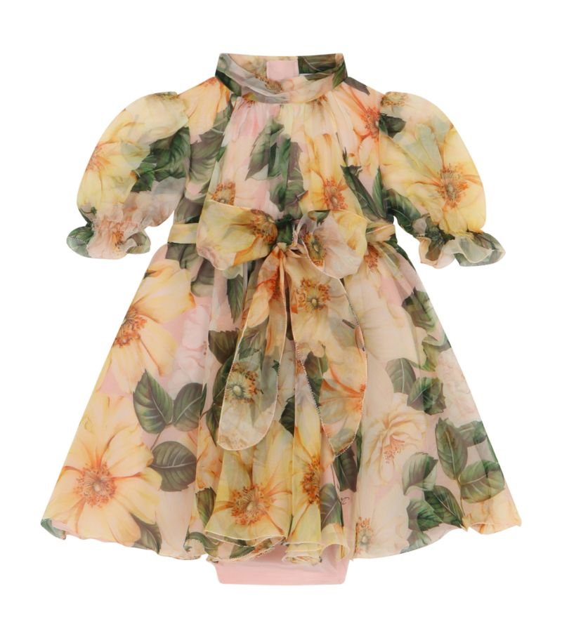 Dolce & Gabbana Kids Floral Print Dress And Bloomers (3-30 Months)