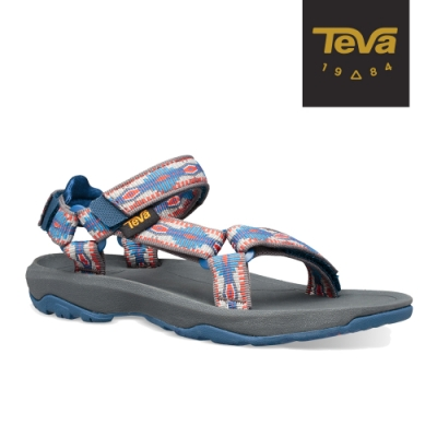 【TEVA】原廠貨 中童 Hurricane XLT2 機能運動涼鞋/雨鞋/水鞋(峽谷圖騰藍-TV1019390CCDKB)