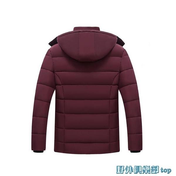 爸爸外套 中老年人棉衣爸爸加絨加厚款冬裝外套中年男裝爺爺老人秋冬季棉襖 快速出貨
