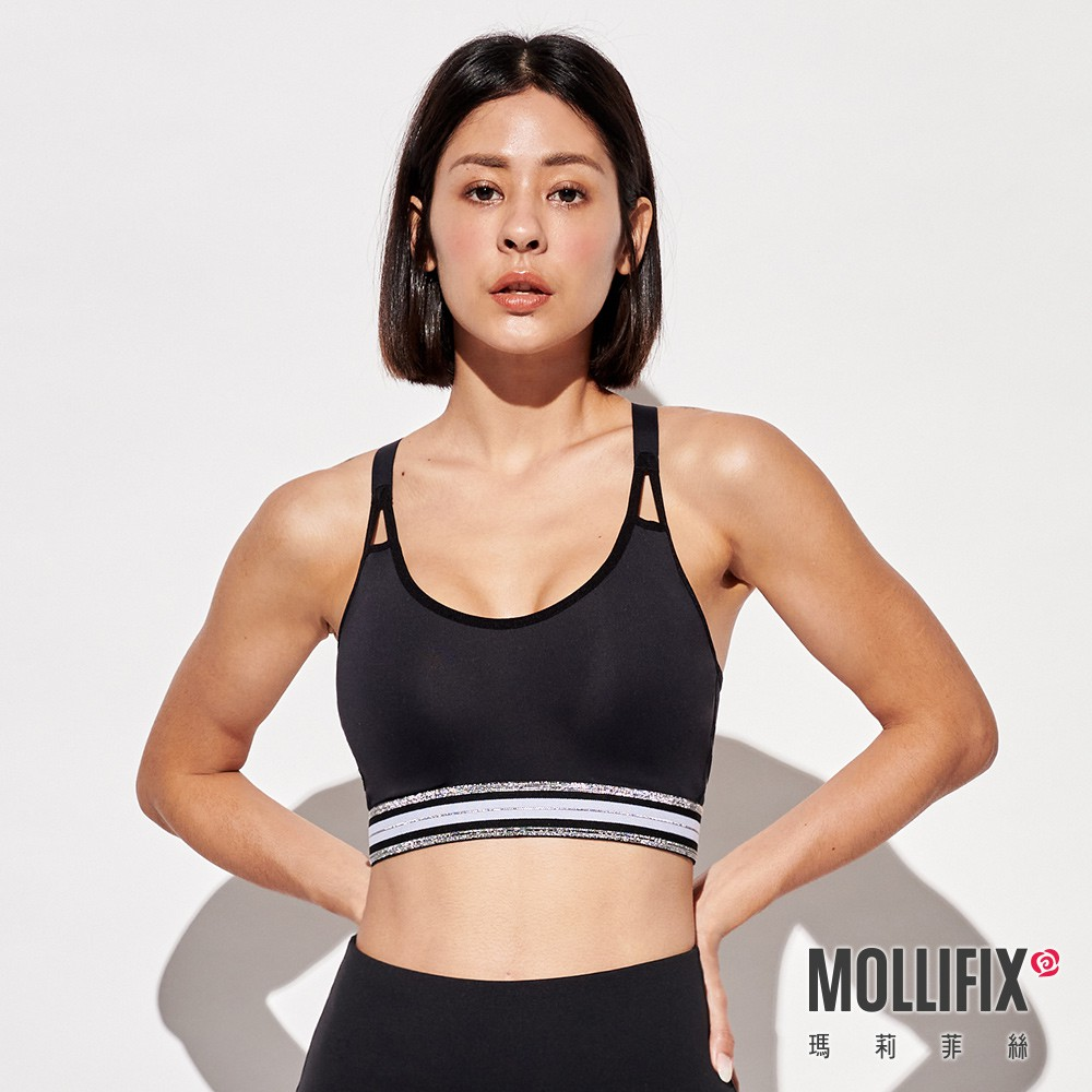 Mollifix 瑪莉菲絲 3D防震高強度運動內衣 運動內衣 (高調銀)