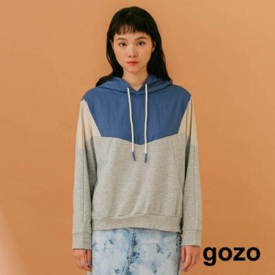 gozo-運動風拚色連帽上衣(兩色)