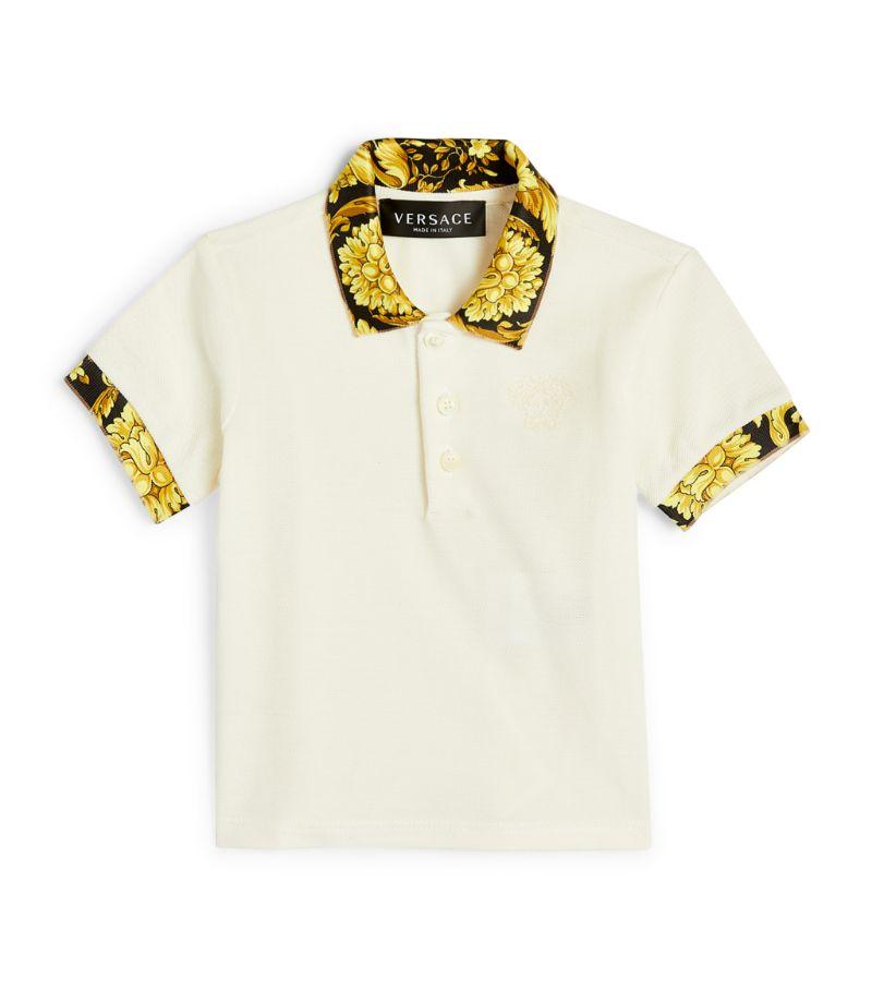 Versace Kids Baroque-Trim Polo Shirt (3-36 Months)