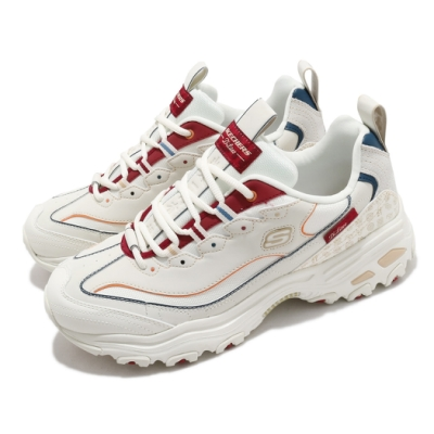 Skechers 休閒鞋 D Lites CNY 老爹鞋 新年 男鞋 增高 厚底 穿搭 出入平安 吸震 穿搭 米 紅 666169WHT