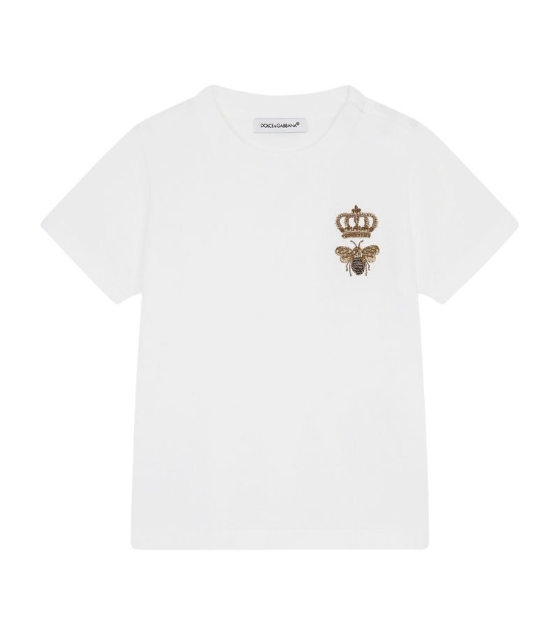 Dolce & Gabbana Kids Embroidered T-Shirt (3-30 Months)