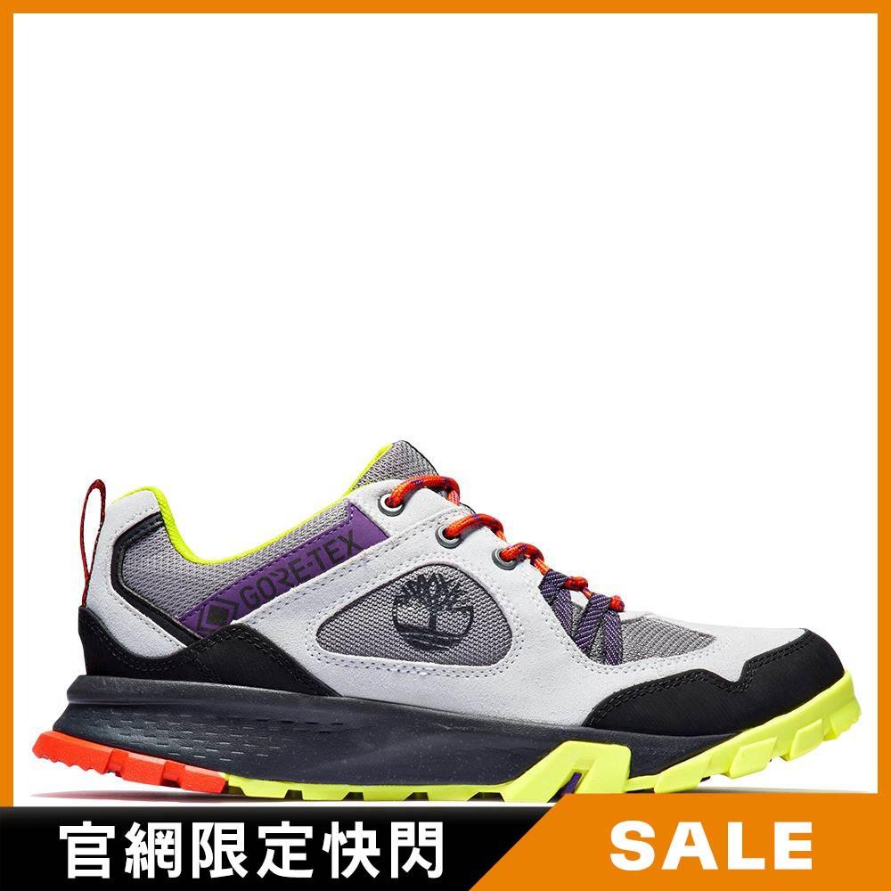 Timberland 男款淺灰色絨面革防水低筒健行登山靴|A25Y3032
