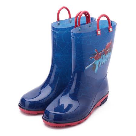 蜘蛛人 提帶高筒雨靴 藍 MNKL09696 中大童鞋