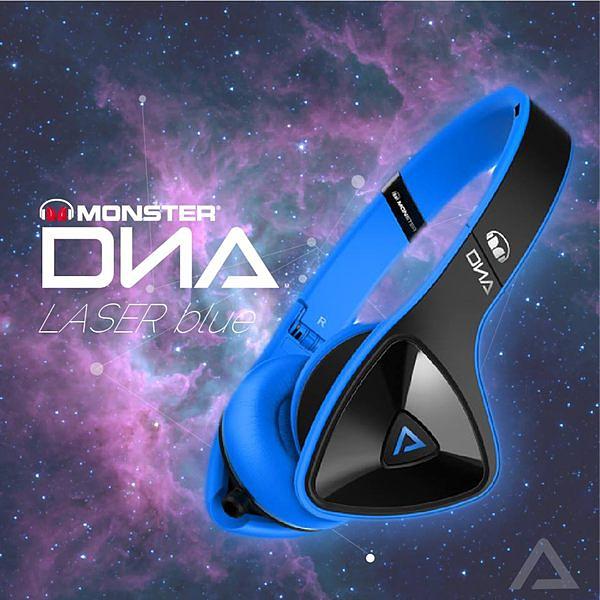 美國 MONSTER DNA ON-EAR ( Laser Blue) 耳罩式耳機,公司貨,附保卡,保固一年