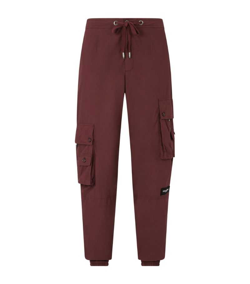 Dolce & Gabbana Garment-Dyed Cotton Cargo Trousers
