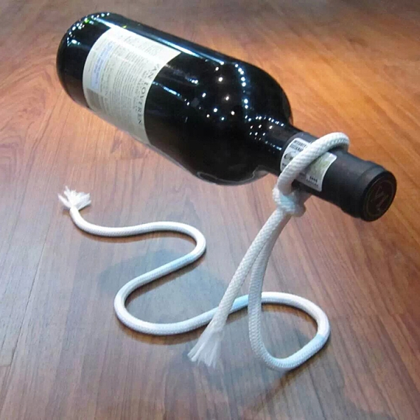 酒架 包郵魔術繩創意紅酒架 時尚個性葡萄酒架子 繩子鐵鏈酒瓶架【快速出貨八折下殺】