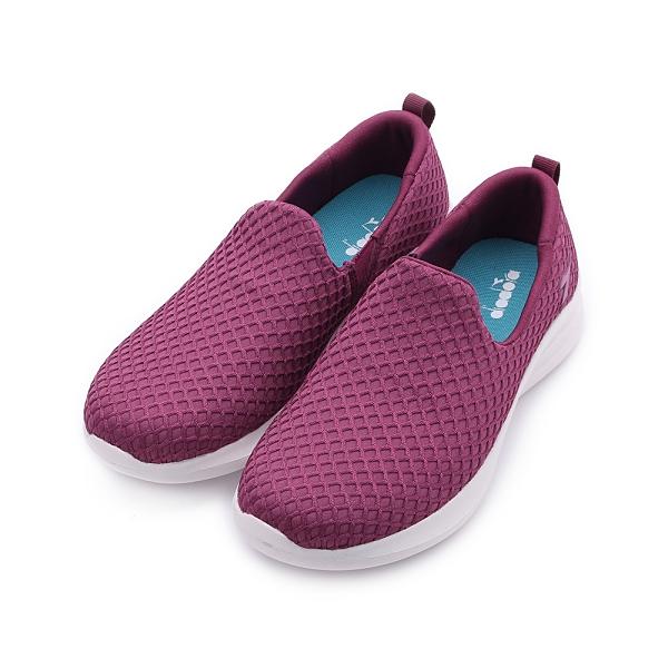 DIADORA 健走懶人鞋 紅 DA31655 女鞋