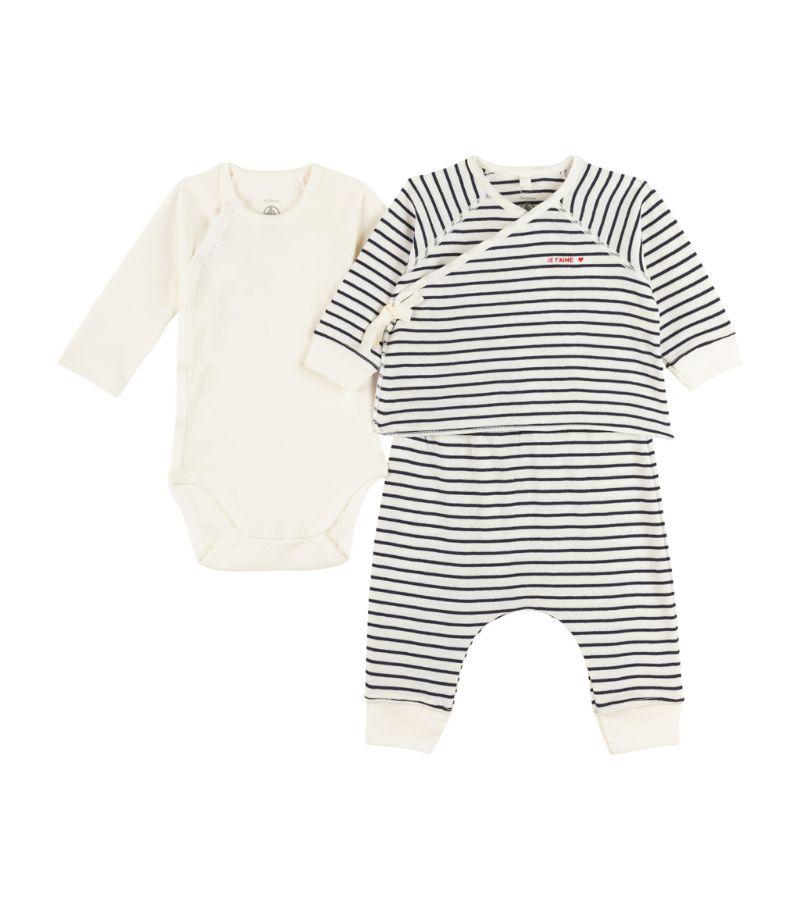 Petit Bateau T-Shirt, Leggings And Bodysuit Set (0-18 Months)