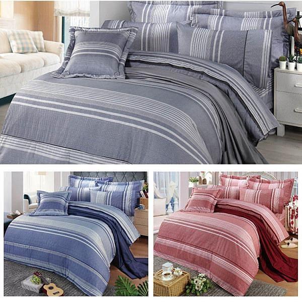 【南紡購物中心】【FITNESS】精梳棉雙人四件式被套床包組-安德里 (3款)
