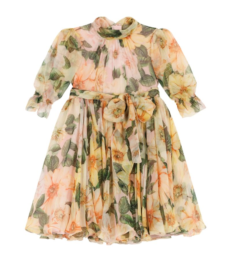 Dolce & Gabbana Kids Floral Silk Dress (2-6 Years)
