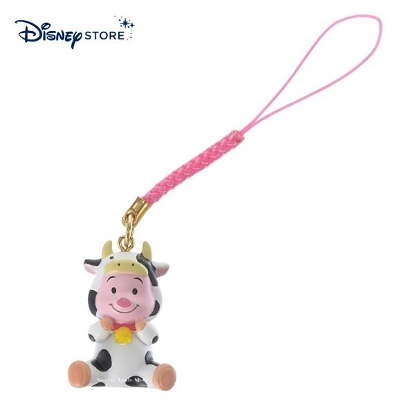 【SAS】日本限定 迪士尼商店 Disney Store 小熊維尼家族 粉紅小豬 新年 牛年生肖 手機吊飾 / 公仔吊飾