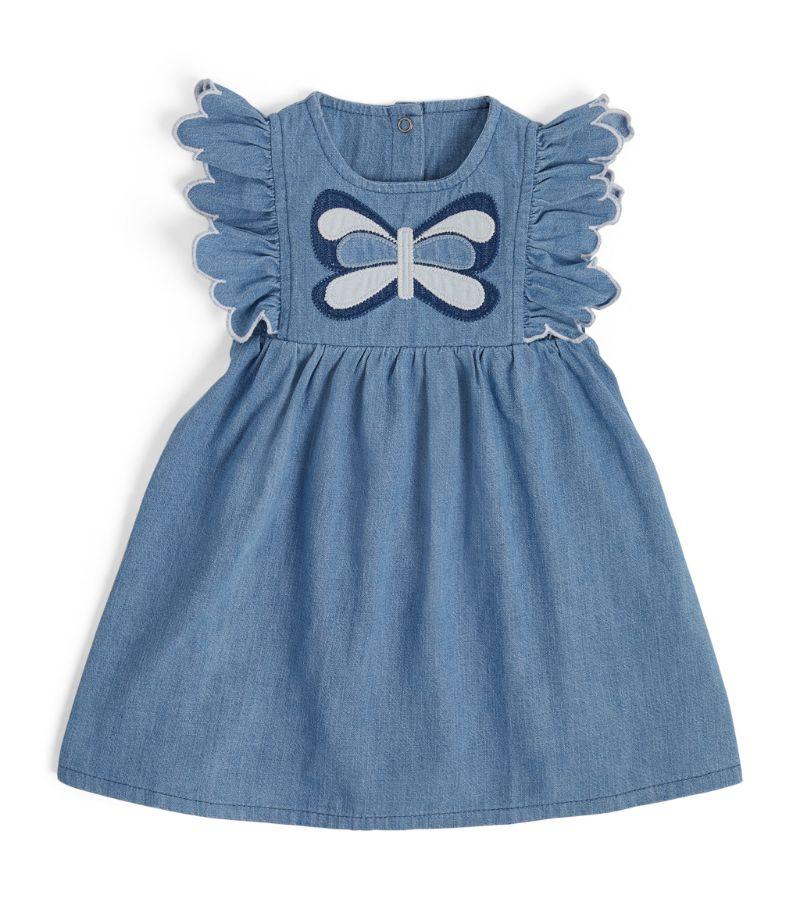 Stella Mccartney Kids Butterfly Patch Denim Dress (3-36 Months)