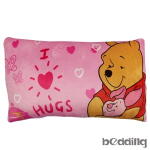 BEDDING-小熊維尼愛擁抱午安枕-高級短絨布-粉紅色