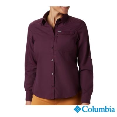 Columbia 哥倫比亞 女款- UPF50 快排長袖襯衫-紫色 UAK26570DL