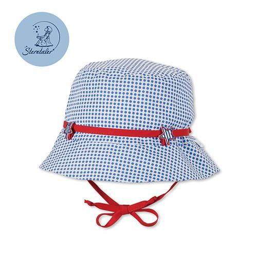 德國STERNTALER 抗UV遮陽幼童漁夫帽-藍點(43-53cm)C-1411607-345