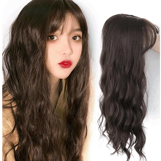FoxBi,3D補頭頂螺絲捲增髮量減齡造型假髮(多色)