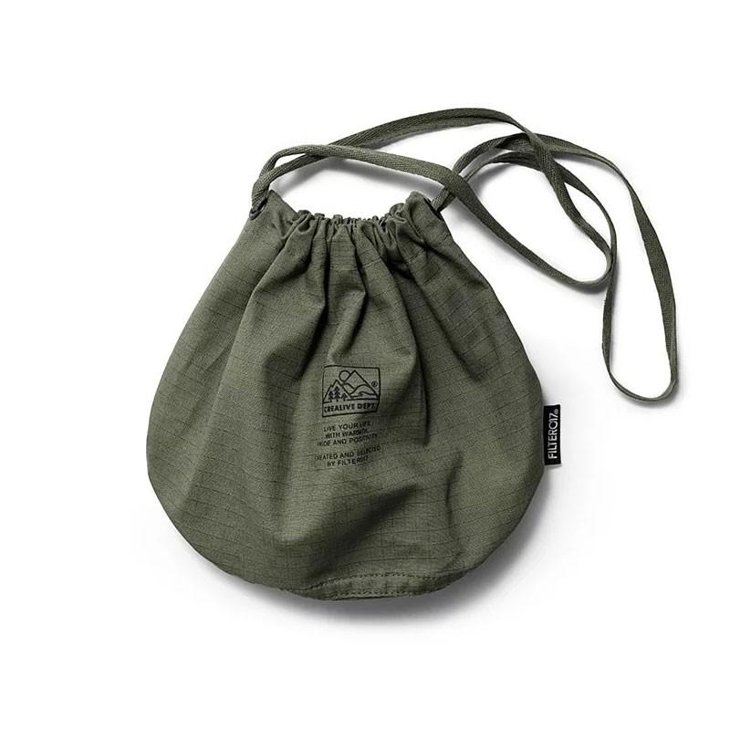 FILTER017 Ripstop Drawstring Large 山峰標誌 防撕布筒狀 軍用 束口袋 (小)